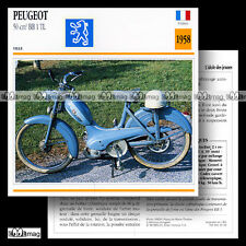 #045.10 Cyclo PEUGEOT 50 BB 1 TL (BB1 B1TL) Moped Fiche Moto Motorcycle Card