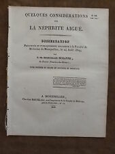 THESE FACULTE MEDECINE MONTPELLIER.CONSIDERATIONS SUR NEPHRITE AIGUE.F.M SUZANNE