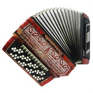 5 Row Barcarole Converter German Button Accordion: Free Bass & Stradella, 1106
