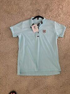 Ladies Brinley Polo Shirt Light Blue Large