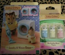 $27 Value! calico Kittens Washer & Dryer Set + Set Of Marshmallow Mouse.