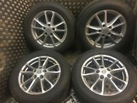 PORSCHE CAYENNE R18 WHEELS ALLOYS SET 8J ET53 958 With Winter Tyres 7P5601025