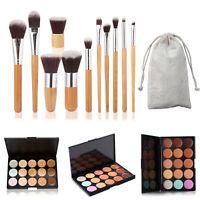 HOT 15 Colors Concealer Palette Kit With 11Pcs Brush Face Makeup Contour Cream
