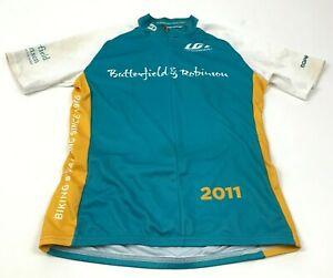 Louis Garneau Cycling Jersey Mens Small Womens Large Shirt Short Sleeve 3/4 Zip