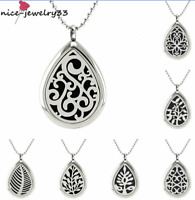 Stainless Steel Necklace Aromatherapy Essential Oil Diffuser Locket Pendant