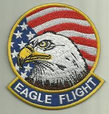 EAGLE FLIGHT F-15 AIRCRAFT PATCH USAF PILOT USMC NAVY USA FLAG FLY BALD EAGLE