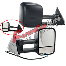 Side View Mirrors Power Heated Black Towing Pair for 03-07 Silverado GMC Sierra