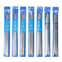 35 PCS Double Pointed Stainless Knitting Needles Set 7 Size 2mm  2.5mm 3mm - 5mm
