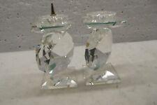 Pair of Georgeous Swarovski Crystal Pin Candleholderes 7600 Nr