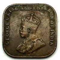 Straits Settlement 1920 1 Cent  Bronze Coin KM# 32.