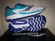 Saucony women's Ride 10 NIB Size 8 White/Blue S10373-3 Run Shoe