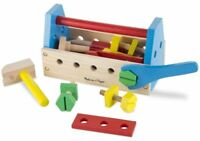 Melissa & Doug TAKE-A-LONG TOOL KIT WOODEN TOY Baby/Toddler Construction Set BN