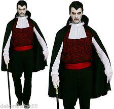 """Da Uomo Vampiro Conte Dracula Classic Halloween Costume M / L fino a 46 """""""