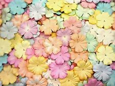 100 Mixed Pastel Color Carnation Flowers mulberry paper for Craft & D.I.Y #01