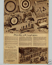 1942 PAPER AD Toy Play Lithograph Rapid Fire Cannon Army Soldiers