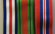 "Full Size British Military Medal Ribbons World War 2, 6"" lengths  *[MEDRIB]"