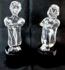 Pr Loredano Rosin Murano Art Glass Sculpture Nude Boy & Girl Sitting Pedestal