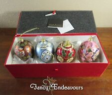 Joan Rivers 2014 Russian Faberge Inspired Eggs Christmas Ornaments in Box