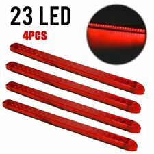 "4X17""Red 23LED Light Bar Stop Turn Tail 3rd brake Light Truck Traile Submersible"