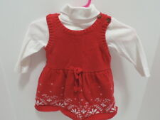 Infant girl Carter's Christmas dress with long sleeve one-piece Size 3 months