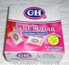 New Box 100 C&H Pure Cane Sugar Individual Packets