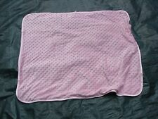 SNUGGLY BABY GIRL PINK MINKY BLANKET LOVEY SECURITY SATIN BINDING TRIM BAND EUC