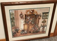 Homco Home Interiors Picture Artist: Kay Lamb Shannon Victorian Hats Dress Lamp