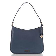 NWT $315 Brahmin Noelle Dusk Topsail Shoulder Bag Smooth Leather Blue