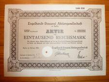 D: cervecería: Engelhardt-cervecería AG, Berlín, 1928, 1000 mark *