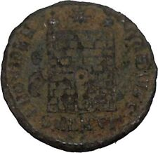 CONSTANTINE I the GREAT 325AD Ancient Roman Coin Military Camp gate  i45880