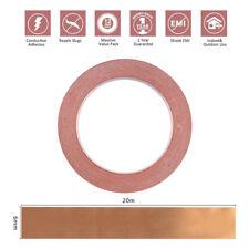 1X 6mm * 20m COPPER FOIL SHIELDING TAPE LOW IMPEDANCE CONDUCTIVE ADHESIVE