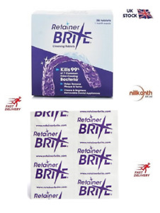 Unboxes Retainer Brite 36 & 96 Cleaning tablets  UK Seller @Nillkanth kills 99%