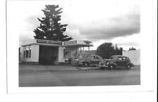RPPC Postcard Associated Gas Station Veedol  Indio Ca Vintage Cars People