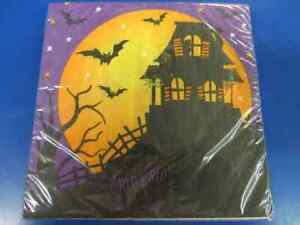 House Fright Haunted Witch Bat Carnival Halloween Party Paper Luncheon Napkins