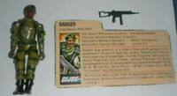 1982 GI Joe Stalker Ranger Straight Arm v1 Figure w/ File Card *Complete *READ*