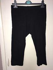 H&M Ladies Black Quarter Length Leggings Size S<NH320
