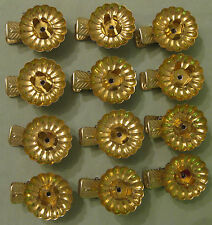Vintage Bundle of 12 Christmas Candle Holder Clips to be put on Christmas Tree