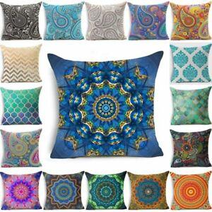"Mandala Pillow Case Pillowcase Cover Throw Geometric Cushion 18""Bohemian Paisley"