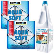 Sanitärzusatz Thetford 2L Aqua Kem Blue Weekender + 2x Aqua Soft Toilettenpapier