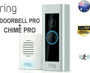 RING VIDEO DOORBELL PRO WITH RING CHIME PRO - SATIN/NICKEL, 1080P, WIRING REQUIR
