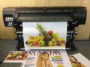 """HP Designjet L26500 LATEX 61"""" LARGE FORMAT OUTDOOR BANNER CANVAS POSTER SOLVENT"""