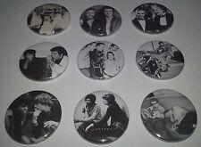 9 badges Mick Jagger James Dean Elvis Sammy Davies Jr Jimi Hendrix Tom Jones