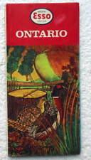1958 ESSO HUMBLE TRAVEL ROAD MAP ONTARIO CANADA #2V