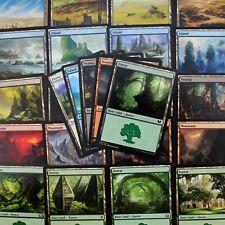 1,000 MTG Basic Lands (200 of each) Magic The Gathering Card Lot (NM/PL)