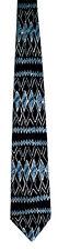 Men's New Neck Tie, Classic Gray Black diamond stripe design by Ketch