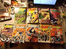 MARVEL COMICS G.I. JOE A REAL AMERICAN HERO LOT OF 9 ISSUE #30 , #32-39
