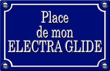 PLACE DE MON ELECTRA GLIDE - 29cm AUTOCOLLANT STICKER MOTO PR033