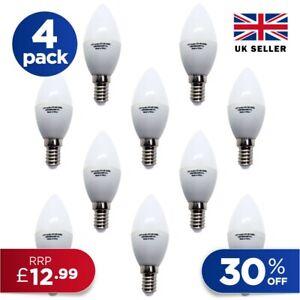 Candle LED Cool Light Bulb 4 PACK E14 Edison fitting Energy Saving A+