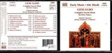 CD 1236 GESUALDO  COMPLETE SACRED MUSIC