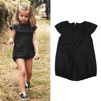 Summer Baby Girls Kids Casual Outfit Bodysuit Romper Jumpsuit Sunsuit Clothes US